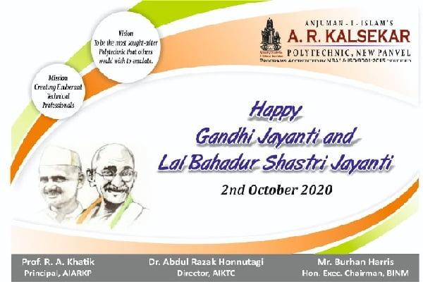 Gandhi Jayanti and Lal Bahadur Shastri Jayanti