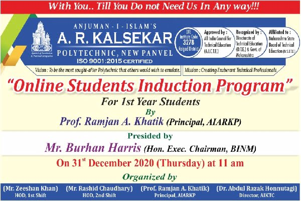 Induction Program FY Students Year 2020-21