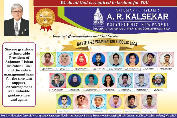 M.S.B.T.E Summer 2020 toppers of Final Year, Second Year & First Year.