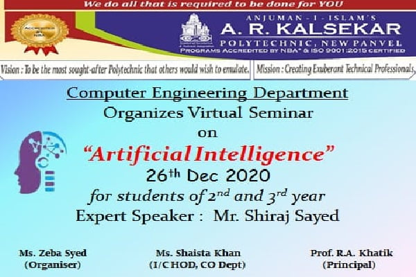 Virtual seminar on Artificial Intelligence