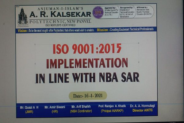Division meeting of ISO procedure in line of NBA