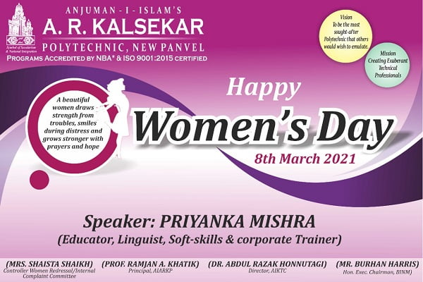"A virtual seminar on ""Women Empowerment"""