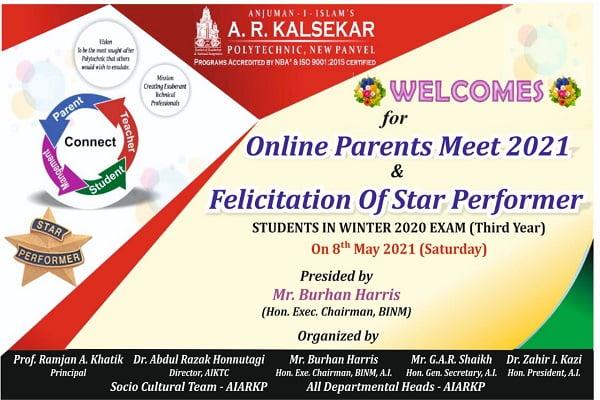Online Final Year Parents Meet 2021